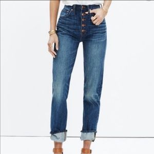 Madewell Rivet & Thread Button Front Jeans